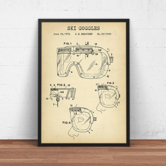 Ski goggles blueprint art patent prints mountain house ski goggles blueprint art patent prints mountain house decor holiday gifts skier skiing poster snow ski winter sports goggles art malvernweather Choice Image