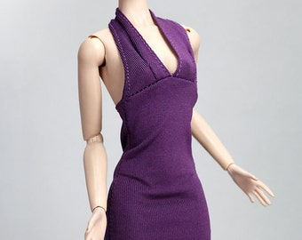 FR1088 The Vogue Purple Stylish All in One Dress for Barbie Fashion Royalty FR2 Poppy Parker Silkstone
