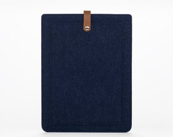 MacBook Air 13 Sleeve – MacBook Air Case – MacBook Cover – MacBook Air Leather - Felt Leather Case