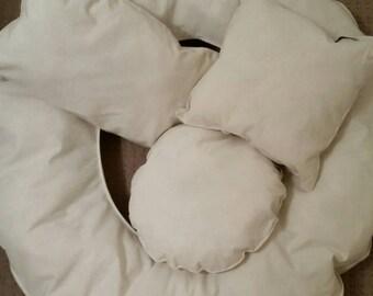 Newborn Posing Cushions, Set of Four, Photography Accessories, Baby Photography Props, Newborn Photography, Shaped Cushions