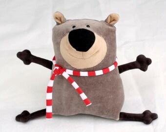 Muma Teddy Bear Plushie, Funny Little Bear Stuffie Toy, Funny Pocket Plush Bear, stuffed animal