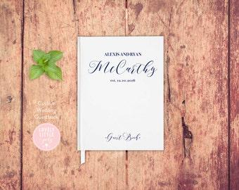 Wedding Guest Book, Wedding Guestbook, Custom Guest Book Personalized, Custom design wedding gift keepsake -Style 506