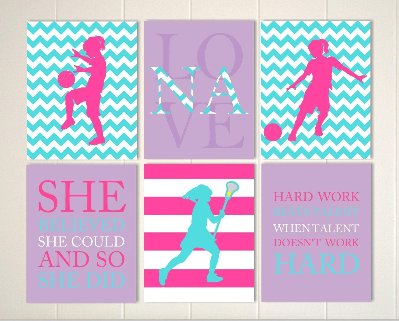 Lacrosse Quotes Lacrosse Wall Art Lacrosse Girl Girls Sports Art Girls Room
