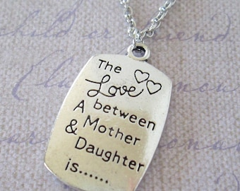 The Love Between a Mother and Daughter Pendant Necklace