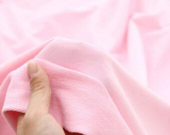Franse Baby Terry Knit stof Baby Pink door de werf