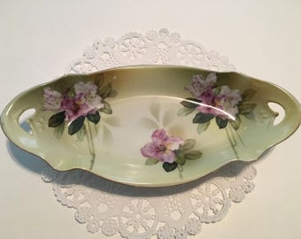 RS Prussia Floral Relish Tray