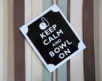 Keep calm bowl on magnet
