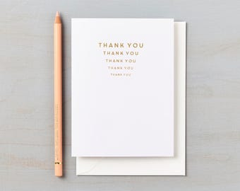 Luxurious Letterpress Gold Foil Thank You cards