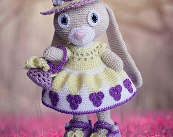 Lily Bunny Crochet Pattern - Amigurumi Lily Bunny Pattern