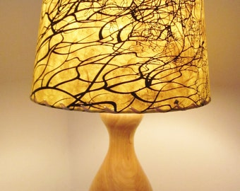 Lamp shades etsy tree root silkscreened paper lamp shade drum lamp shade nepalese paper lampshade lokta paper washer top lamp shade aloadofball Choice Image