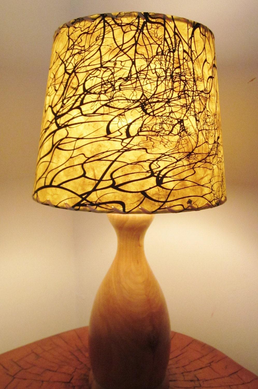 Tree Root Silkscreened Paper Lamp Shade Drum Lamp Shade