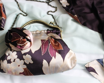 Vintage Inspired Clutch, Scarf and Brooch Set from Coast. 100% Silk