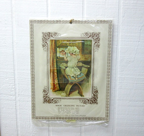 Vintage SHACKMAN Magic Changing Picture Made In Hong Kong