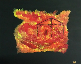 Original Acrylic on Canvas: Wildfire Number 3