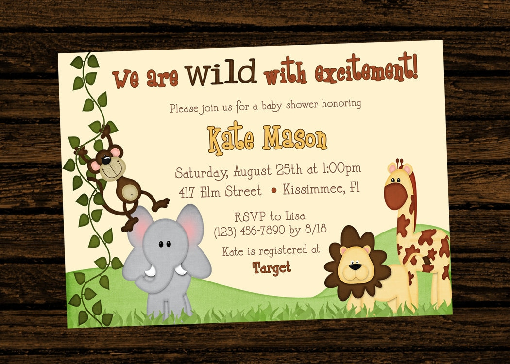 jungle themed birthday invitations Neuermonoberlinco