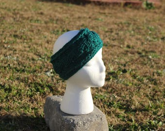 Crochet for Crohn's Green Ear Warmer