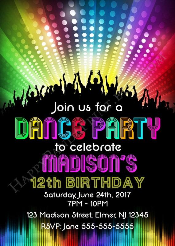 dance party invite