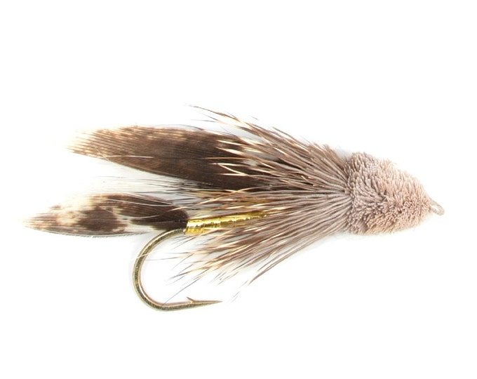 Muddler Minnow Classic Streamer Wet Fly - Hook Size 10 - Hand-Tied Fly Fishing Trout Flies