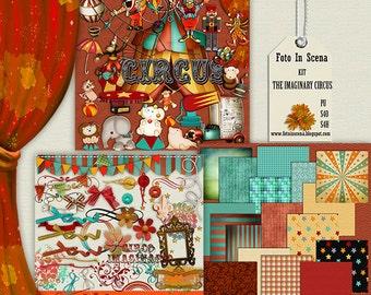 Digital kit THE IMAGINARY CIRCUS, wild animals, circus, birthday party, animals, clowns, fun