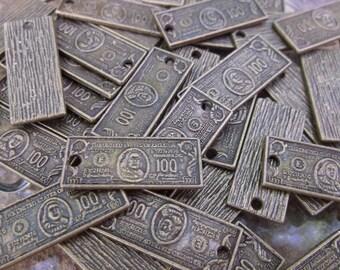 40 Copper Plated Dangle Bills