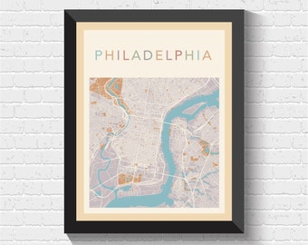 Philadelphia Map, Philadelphia Print, Philadelphia Poster, Philadelphia Art, Philadelphia Map Print, Philadelphia Street Map, Philadelphia