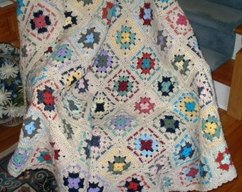 Granny Square Afghan- (1130841)