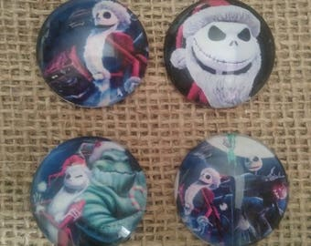 Nightmare Before Christmas Magnets - Jack Magnet - Jack Skellington Magnet - Halloween Magnet