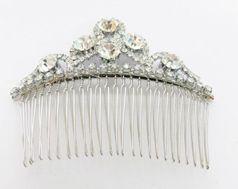 Swarovski rhinestones hair comb. Bride comb - Bridal hair comb - Wedding headpiece - Handmade in Italy - Made in Florence - Ready to ship