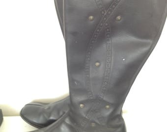 Knee high motorcycle gogo boots 1960