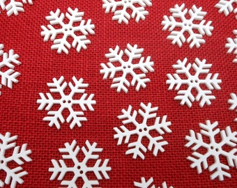 """20 Snowflake Buttons - 1 1/2"""""""