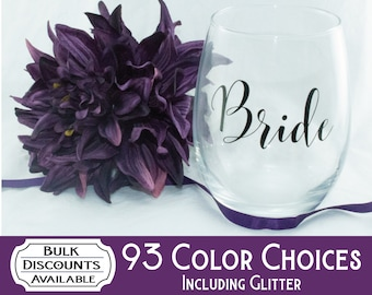 Bridal Party Decals / Wedding Party Decals / Bridal Party Gifts / Maid of Honor Decal / Wedding Decals / Bachelorette Party / Vinyl Decal