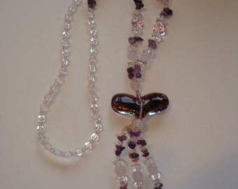 Murano Style Beaded Necklace