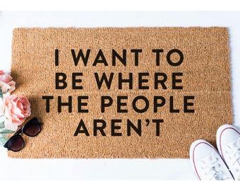 Where the People Aren't Doormat - Mermaid Doormat - Funny Door Mat - Welcome Mat - Funny Mat - Door Mat - Custom Doormat - Custom Doormat