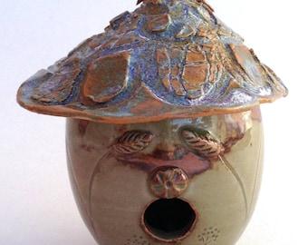 Tiny Decorative Ceramic Birdhouse