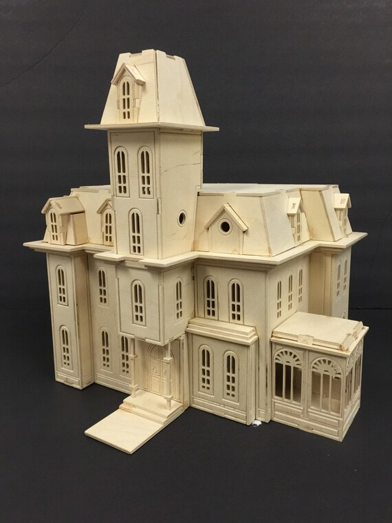 Addamu0027s Family House Model Kit, Laser Engraved, Wooden Model, 3D Puzzle, TV  Show, Home Decor, Gift, Present, Hobby, Craft