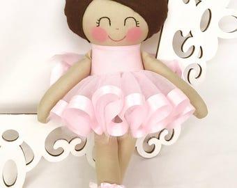 Doll Ballerina- Handmade Doll, Dance Ballerina Doll