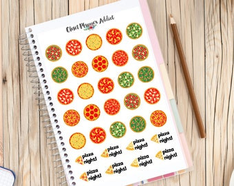 Pizza Night Planner Stickers   Pizza Stickers   Italian Food Stickers   Pizza Night   Treat Yourself Stickers   Date Night (S-076)