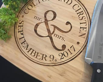 Personalized Cutting Board - Custom Engraved - 11x14 Bamboo - Monogrammed - Personalized Wedding Gift, Anniversary Gift - Housewarming