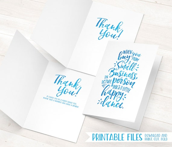 Printable thank you cards small business thank you cards reheart Images