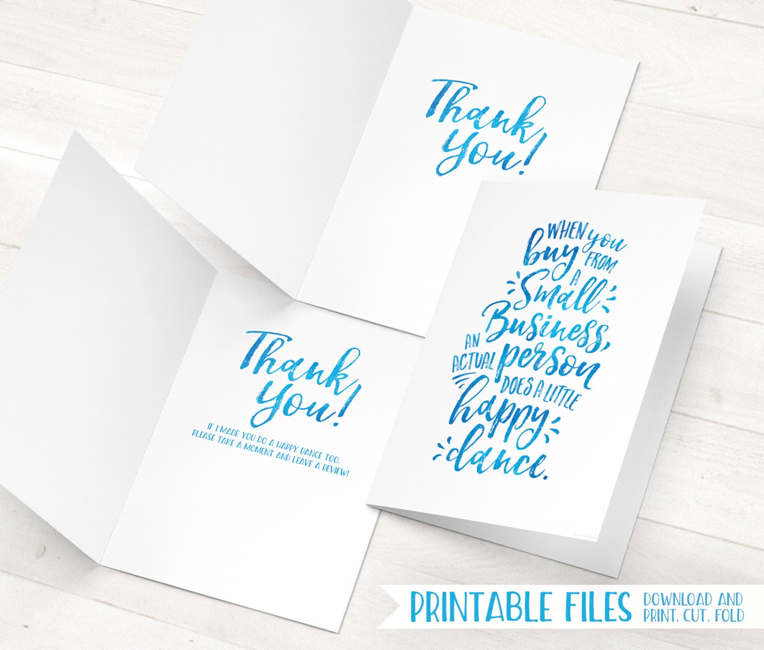 Printable Thank You Cards Small Business Thank You Cards