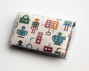 Vinyl Card Holder - Machines  / robot wallet, nerd, kid, men, man, card case, vinyl wallet, women's wallet, small wallet, gift, geek, scifi