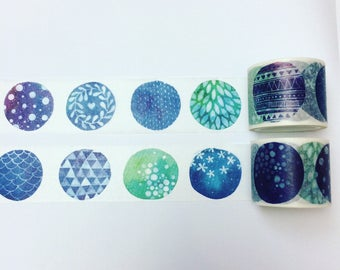 Abstract circle pattern washi tape