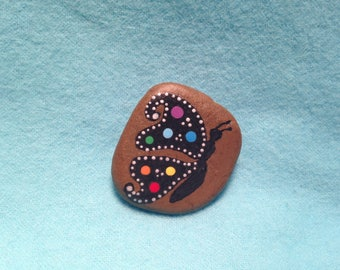 Magnet in chakra colors - Hand painted on river rock