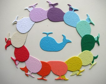25 Seed Paper Whales