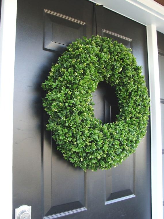 ... Artificial Boxwood Wreath, Wedding Wreath, Wedding Accessories, Summer  Wreath,