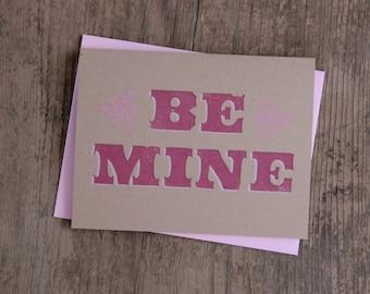 Be Mine Letterpress Card