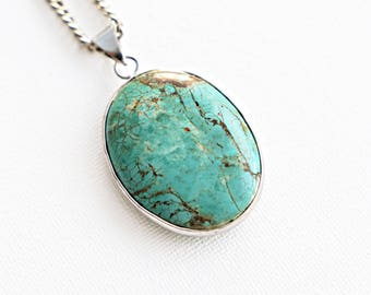 Turquoise slab Boho Necklace