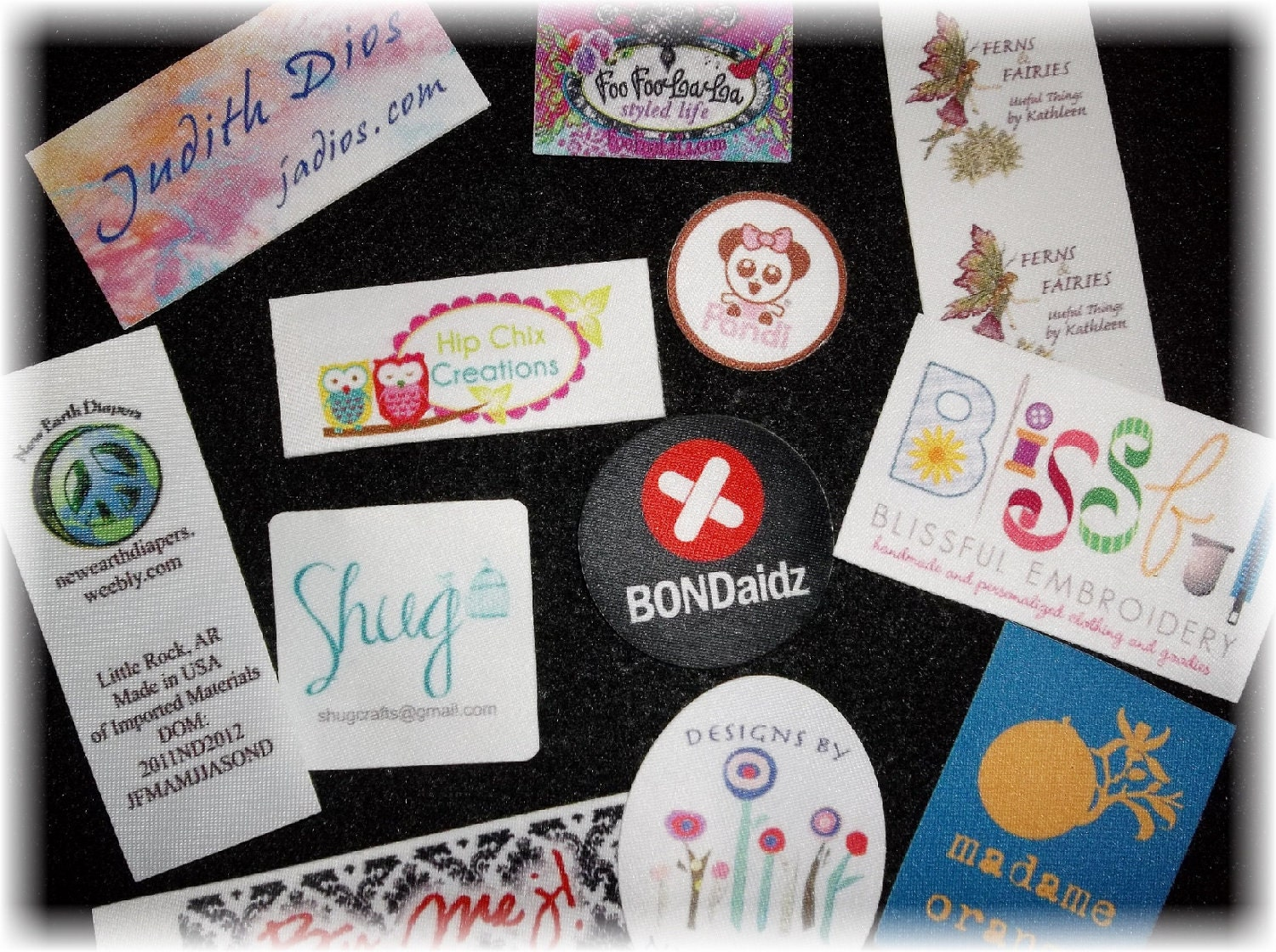 Clothing Tags: 100 Printed Clothing Labels SEW ON Sewing Tags Unlimited