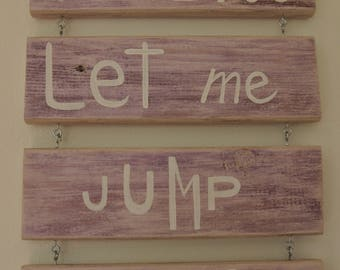 Gift - I love you Let me Jump in your game - wall decoration - wood