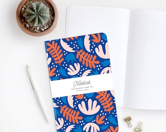 Notebook - Folk - Flowers, Botanical, Flora